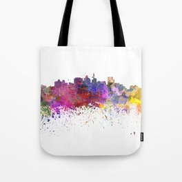 Durban skyline in watercolor background Tote Bag