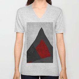RED   Geometric Unisex V-Neck