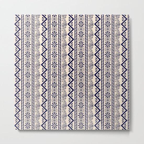 pattern art curtain Metal Print