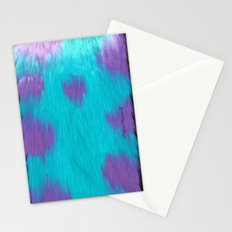 Blue Monster fur. Stationery Cards