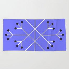 Mod Snowflake Purple Beach Towel