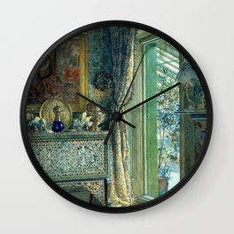 In the Blue Room, Drawing Room, Versailles by Anna Alma Tadema   Wall Clock