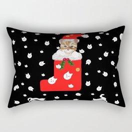 Christmas Kitten Patten Rectangular Pillow