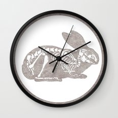 In which a rabbits anatomy is observable  Wall Clock