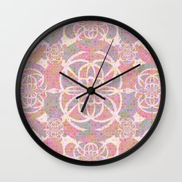 Violet red geometry Wall Clock