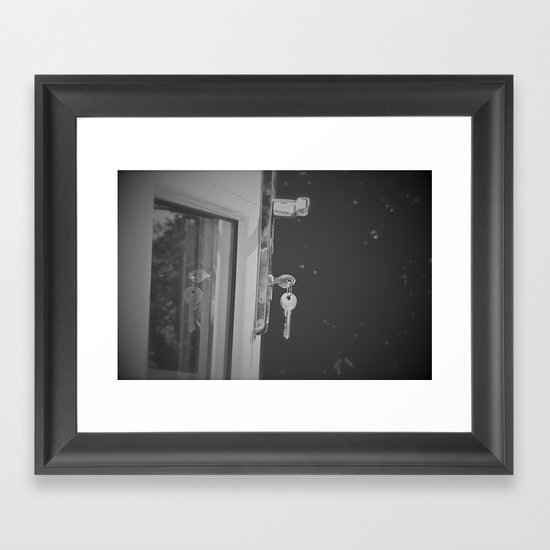 Don't Forget to Lock the Door  Framed Art Print
