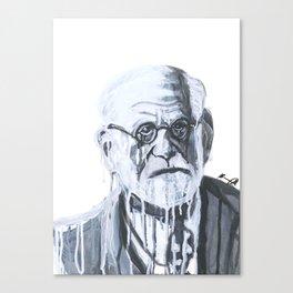 Melting Freud Canvas Print