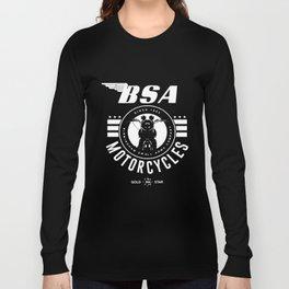 Official Bsa British Motorcycles Bike Logo Grey Since 1903 Biker T-Shirts Long Sleeve T-shirt