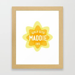 WALK WITH MADDIE Framed Art Print