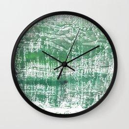 Sea green blurred watercolor pattern Wall Clock