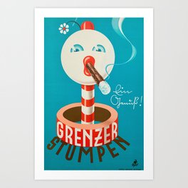 Grenzer Stumpen Vintage Poster Germany  1950 Art Print