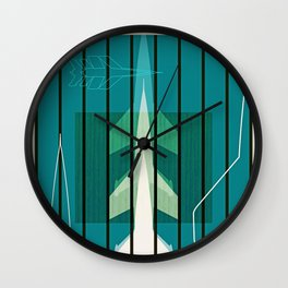 Missiles at dawn... in green! Wall Clock