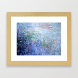 Blue Noise Framed Art Print
