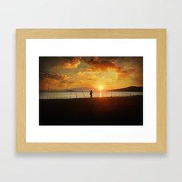 Stationary Traveller Framed Art Print
