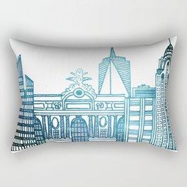 New York City Skyline Rectangular Pillow