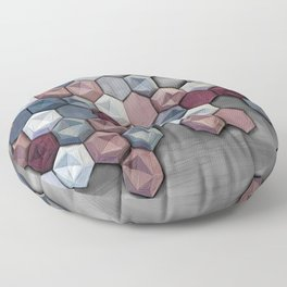hex abstract Floor Pillow