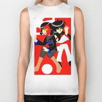 hetalia Biker Tanks featuring conflicted sins, akihabara and tokyo by tabby
