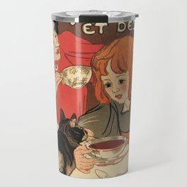 Vintage French tea and hot cocoa advertising Travel Mug