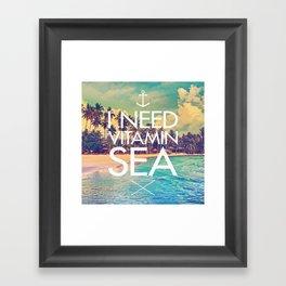 I Need Vitamin Sea Framed Art Print