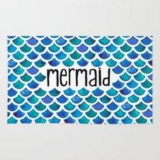 Mermaid Scales in Blue Rug