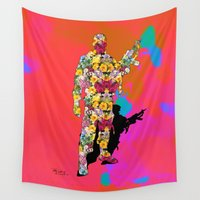 soldier Wall Tapestries featuring Soldier of love by Organic Mind
