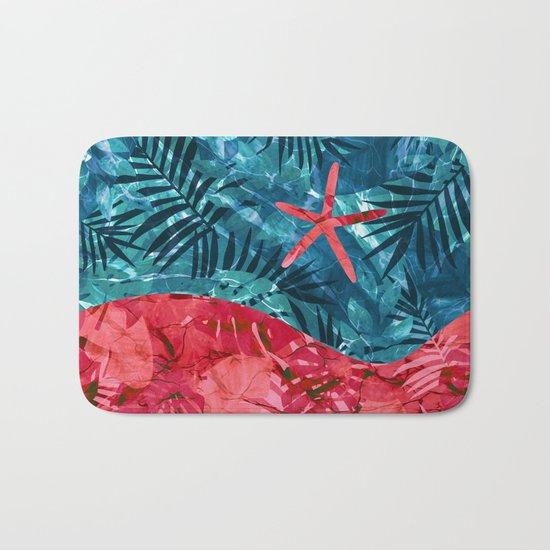 Summer Beach Tropical Pattern Bath Mat
