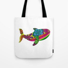 Save the Whale in Colour Tote Bag