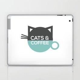 Cats and coffee Laptop & iPad Skin