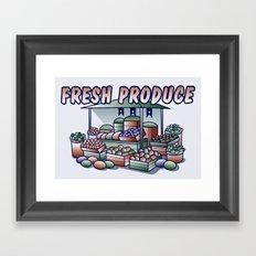 Fresh Produce Framed Art Print