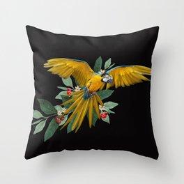 Ara Ararauna Throw Pillow