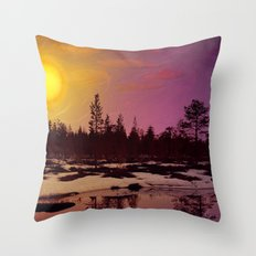 Day - From Day And Night Painting Throw Pillow