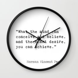 Norman Vincent Peale quote 2 Wall Clock