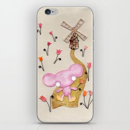 A Mouse With Clogs On, By A Windmill iPhone Skin