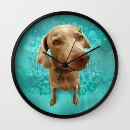 PARKER POSEY (aqua) puffy cloud series Wall Clock