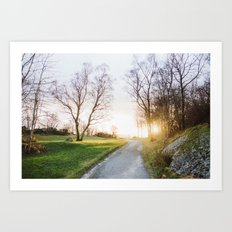 Sunset Norway Art Print