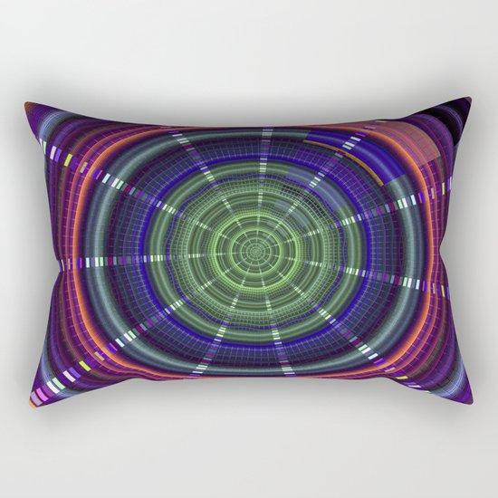 Dynamic mandala with tribal patetrns Rectangular Pillow
