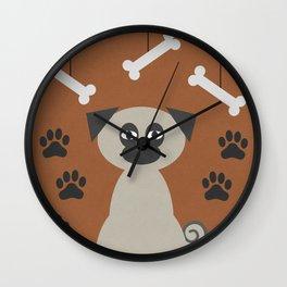 Chug the Pug Wall Clock