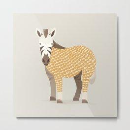 Whimsical Zebra Metal Print