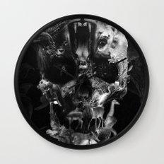 Kingdom Skull B&W Wall Clock