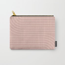 Minimal Line Curvature - Vintage Pink Carry-All Pouch