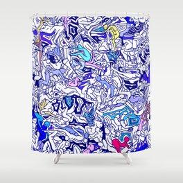 Kamasutra LOVE - Indigo Blue Shower Curtain