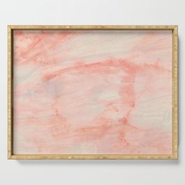 Dramaqueen - Pink Marble Poster Serving Tray