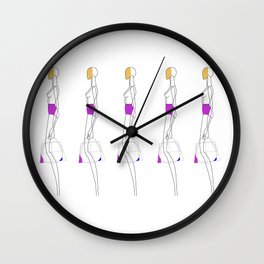ladies get in formation Wall Clock