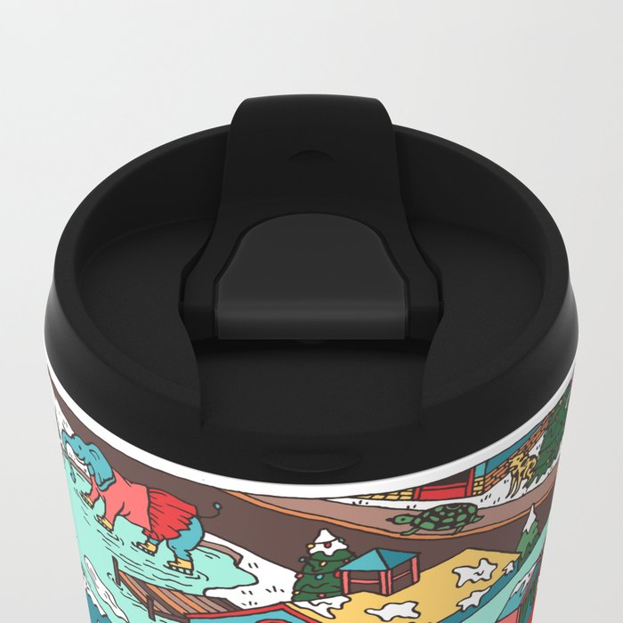 This Place is a Zoo! Metal Travel Mug