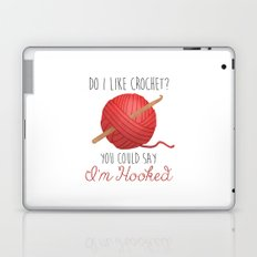 Do I Like Crochet? You Could Say I'm Hooked  |  Red Laptop & iPad Skin