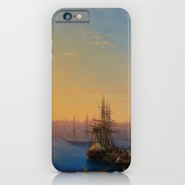 View of Constantinople and the Bosphorus Landscape Masterpiece by Ivan Aivazovsky iPhone Case
