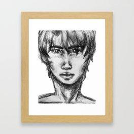 sketch of man Framed Art Print