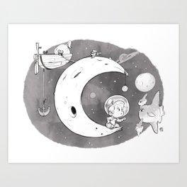 Chasseur de Lunes Art Print
