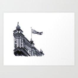 London Skies Watercolour Travel Sketch Art Print