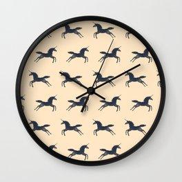 Unicorns Are Real (Pattern) Wall Clock